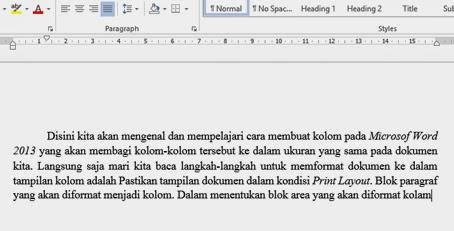 Cara Membuat Kolom Koran Pada Microsoft Word 2013 - Muhammad Imam
