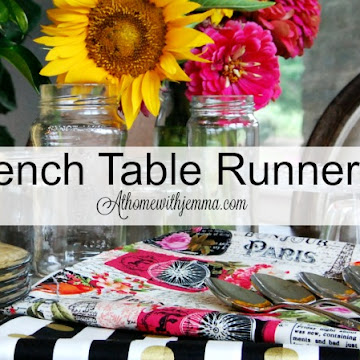 DIY French Table Runner