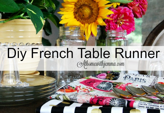 DIY French Table Runner