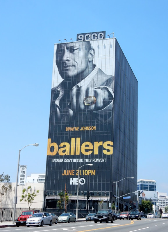 Giant Ballers series premiere billboard Sunset Strip