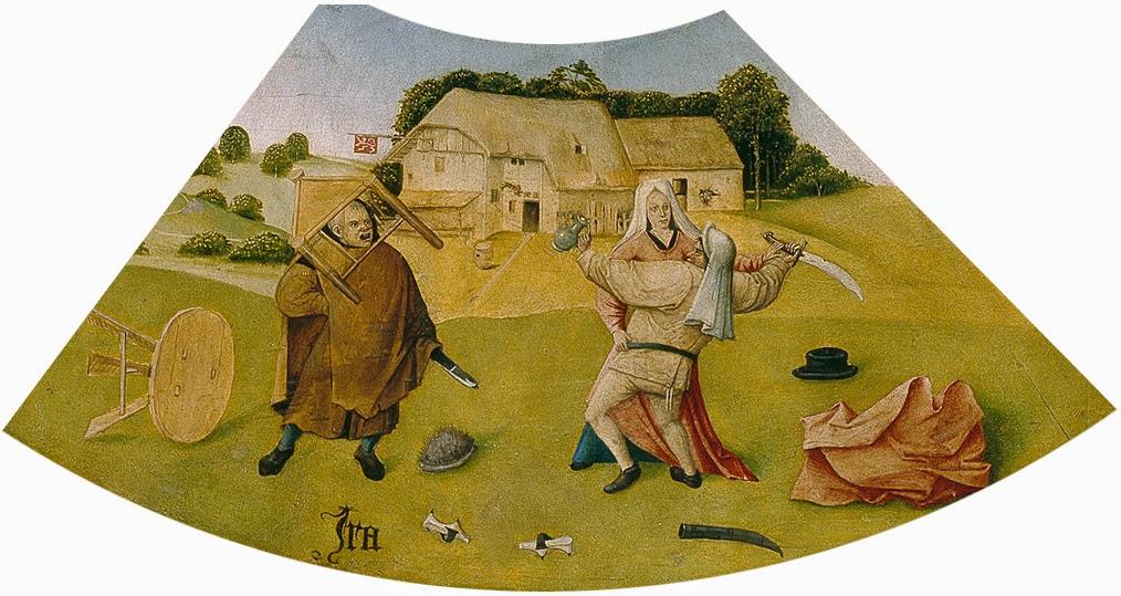 El Bosco - Mesa de los pecados capitales - La ira