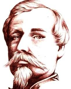 Cara de Francisco Bolognesi con bigote y barba