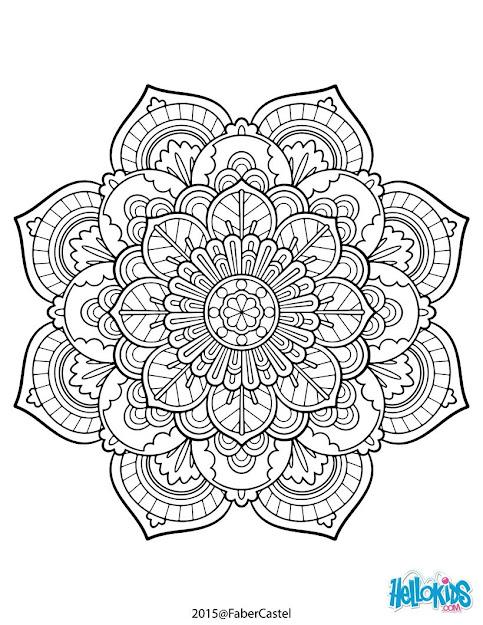 Mandala Vintage Coloring Page