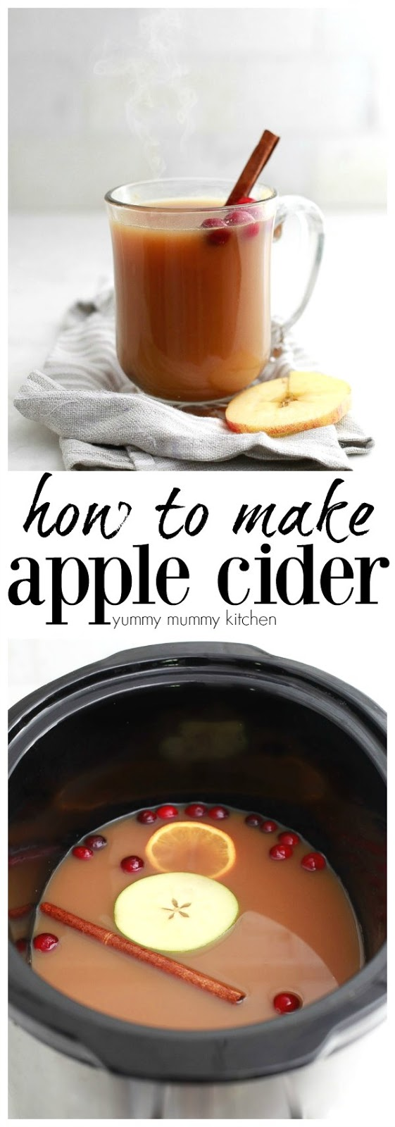 Find out how to make natural apple cider with this easy recipe! Make apple cider in the slow cooker or stovetop.