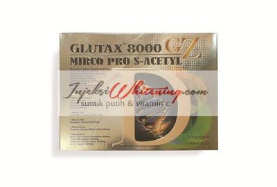 Glutax 8000GZ Micro Pro S-Acetyl, Glutax 8000GZ, Glutax 8000, Suntik Putih Glutax 8000, Glutax 8000 harga Murah, Glutax Injeksi Whitening