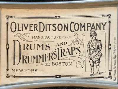 Oliver Ditson Drum Label, ca. 1910s