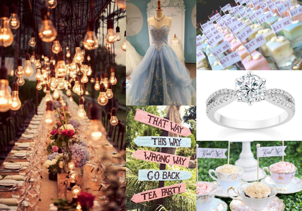 Our Dream Wedding Alice In Wonderland Themed