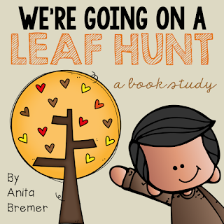 We're Going on a Leaf Hunt book study companion activities for Kindergarten and First Grade