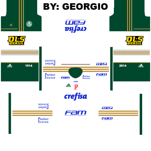 Dream league soccer kits palmeiras 2015 kits by georgio ferreira