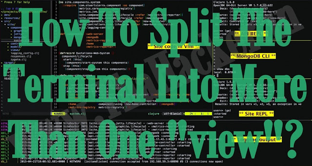 """How to split the terminal into more than one """"view""""?"""