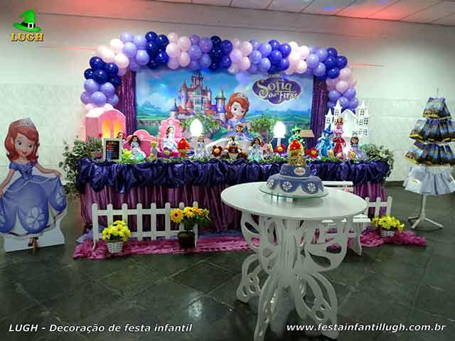 Decoração de mesa de aniversário Princesa Sofia - Jacarepaguá (RJ)