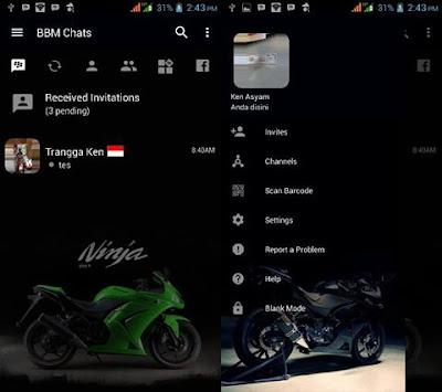 BBM Mod Ninja 250 R V3.2.3.11 Apk
