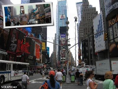 Capitão América - o primeiro vingador, na Times Square