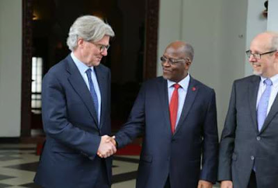 Barrick Gold Corp. Executive Chairman with Tanzania President