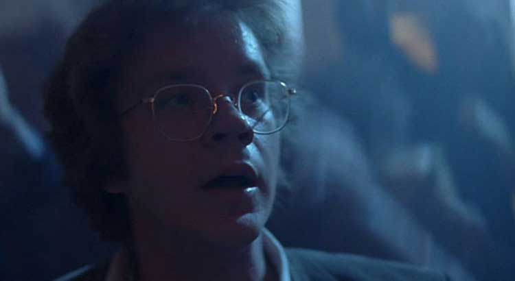 Jacob Singer (Tim Robbins) has crazy visions in Jacob's Ladder.