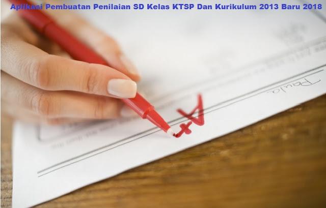 Aplikasi Pembuatan Penilaian SD Kelas KTSP Dan Kurikulum 2013 Baru 2018