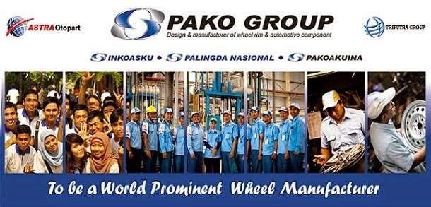 Info Lowongan Kerja untuk S1 2018 Pako Group Karawang - Daftar Via Online