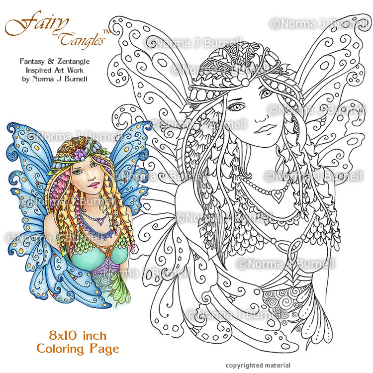 Fairy Tangles: A Few New Fairy Tangles™ Coloring Pages for Your ...