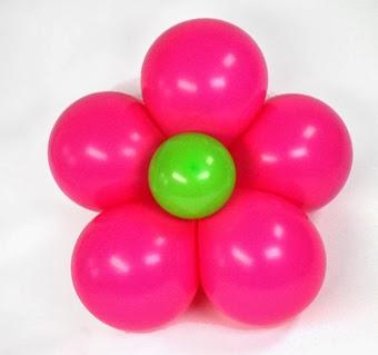 flor de globos paso a paso