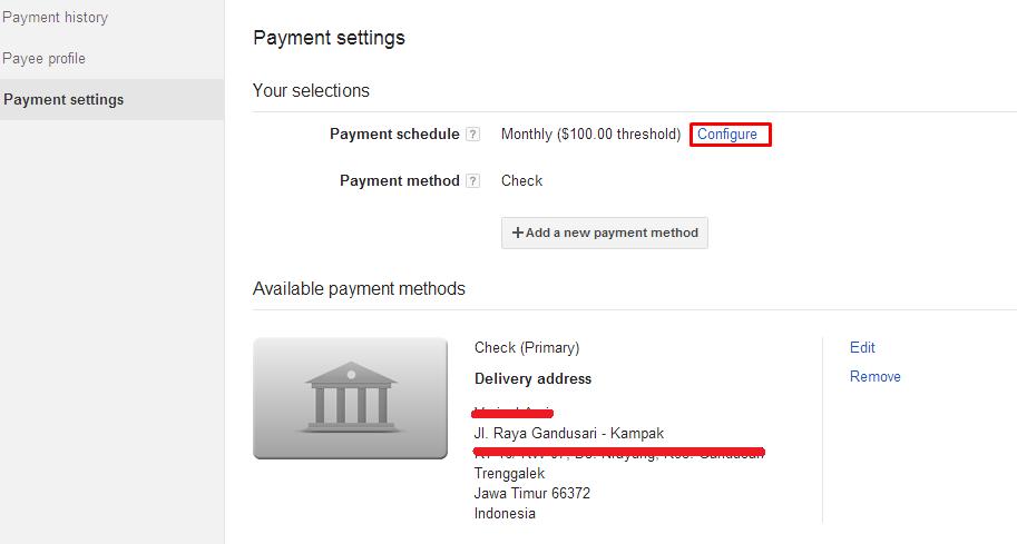 ara Mengubah Settingan Pembayaran Google AdSense Melalui Western Union 2
