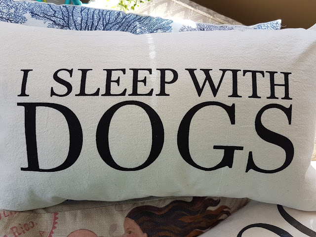 I sleep with Dogs pillow