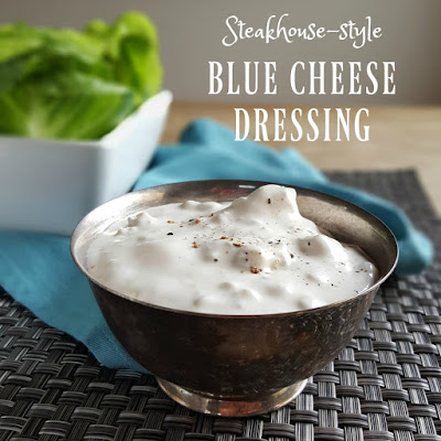 Steakhouse style blue cheese dressing with big chunks of bleu cheese