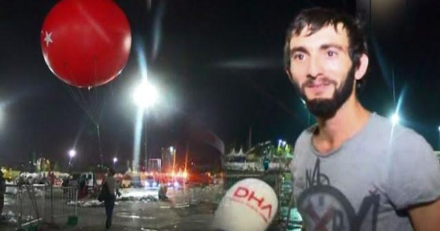 Dev balonu almak için saatlerce bekledi