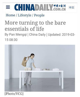 Featured by China Daily newspaper in China for Minimalist Photography