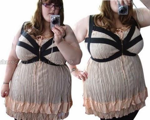 contoh baju blus wanita gemuk