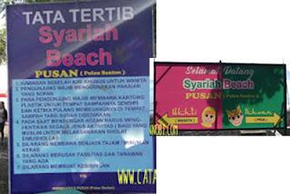 Peraturan dan Penunjuk di Syariah Beach Pusan
