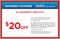 $20 off sears wheel aligment coupon