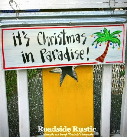 Christmas in Paradise sign