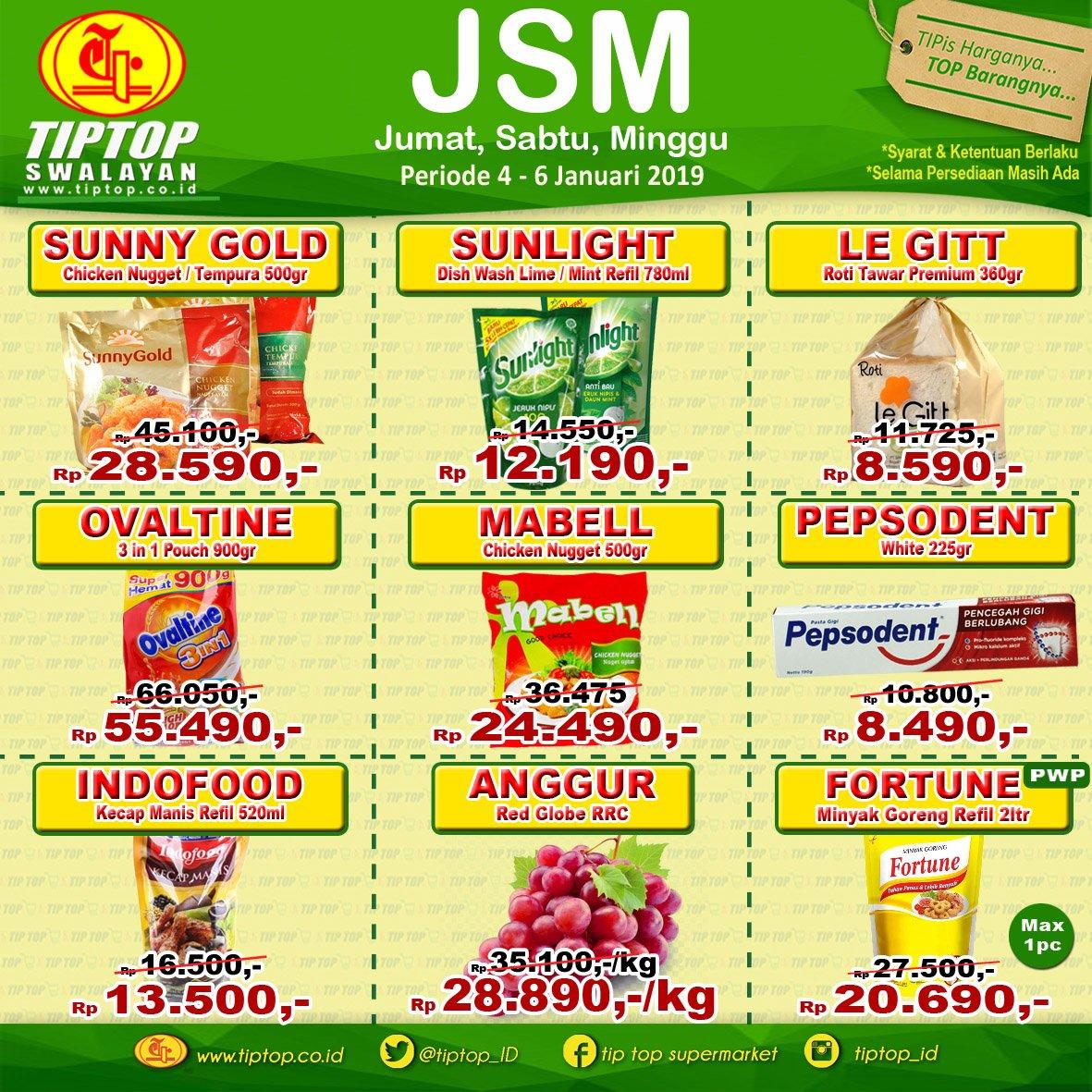 #TipTop - Promo Katalog JSM Periode 04 - 06 Januari 2019
