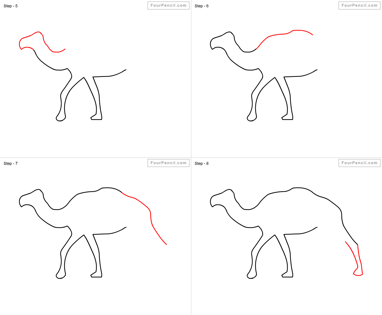 It is an image of Ambitious Simple Camel Drawing