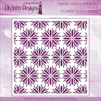 Divinity Designs Flower Burst Mixed Media Stencil