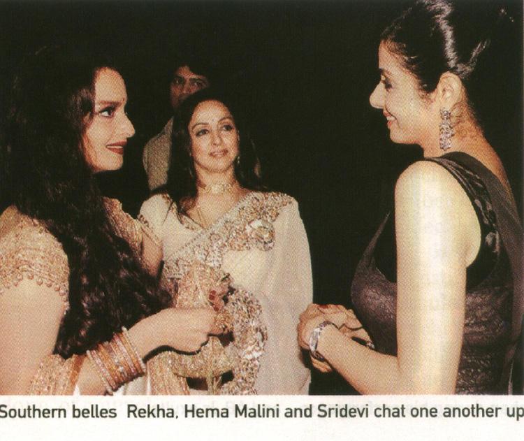 Sridevi: TBT: Sridevi with Rekha, Hema Malini and Amitabh