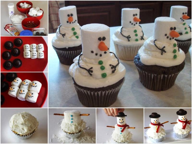 Ideas Amp Products Diy Marshmallow Snowman Cupcakes