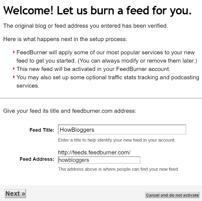 add feedburner to wordpress