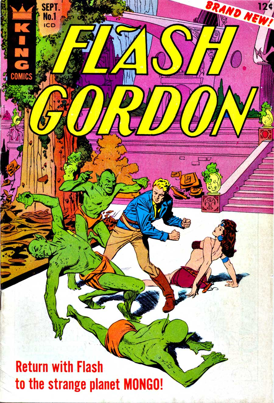 Flash Gordon v4 #1 1960s silver age science fiction comic book cover art by Al Williamson