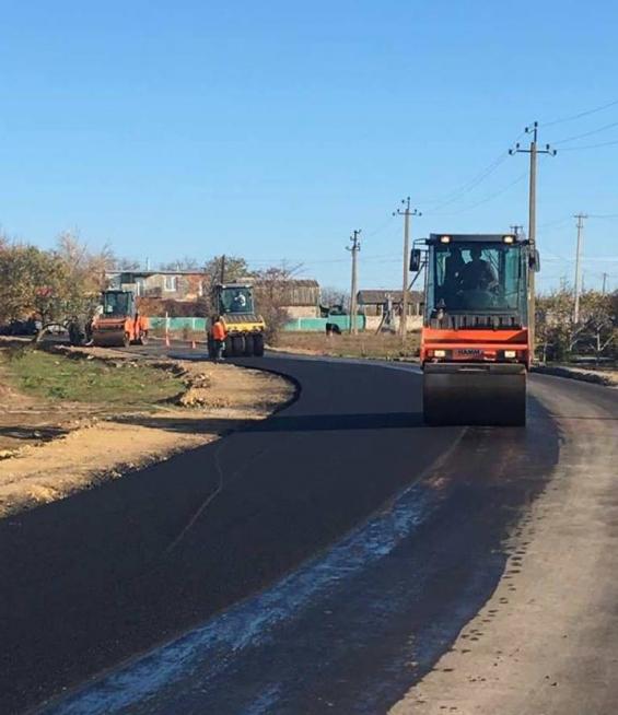 На Николаевщине отремонтировали дорогу на Очаков