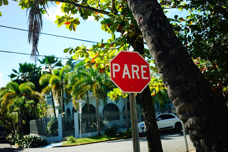 Stop sign in Puerto Rico