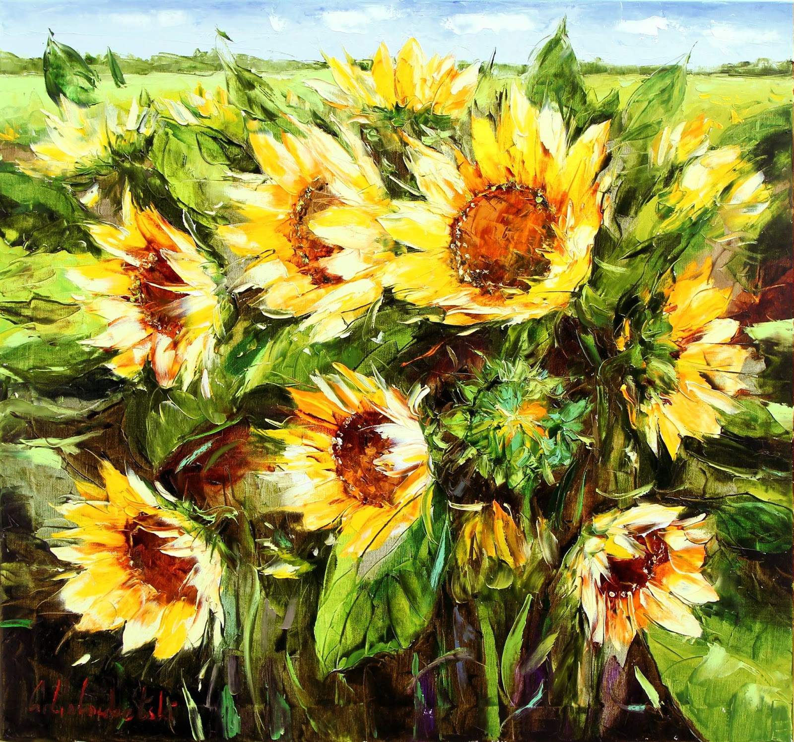 Gleb Goloubetski Sunflowers