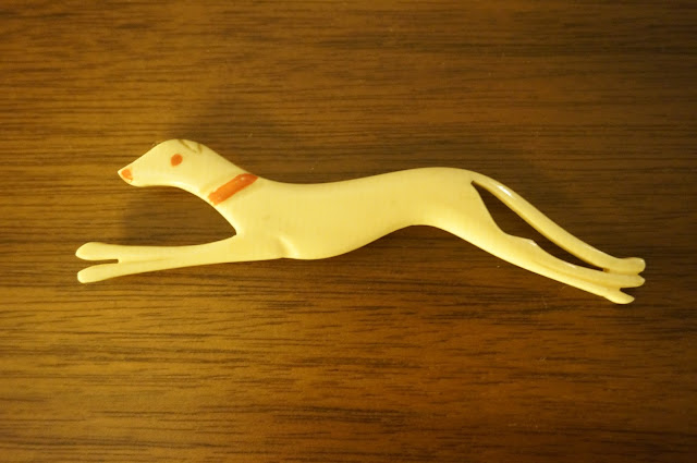 levrier broche chien vintage greyhound hound brooch
