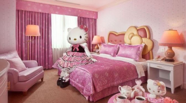 Kamar Hotel Hello Kitty