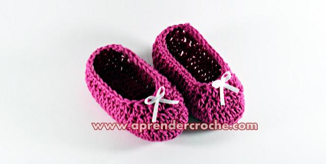 Sapatinho de Crochê em Aprender Croche com EdinirCroche Youtube Curso de Croche Facebook