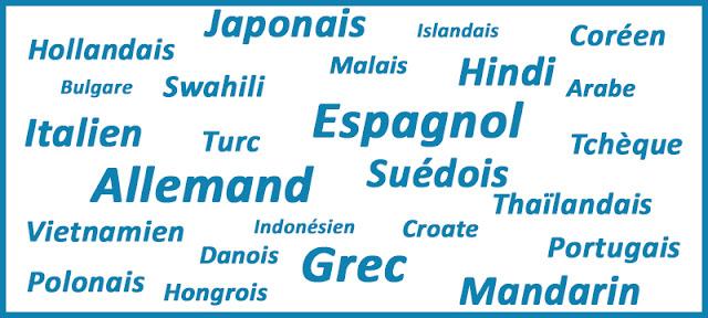 Liste de langues étrangères