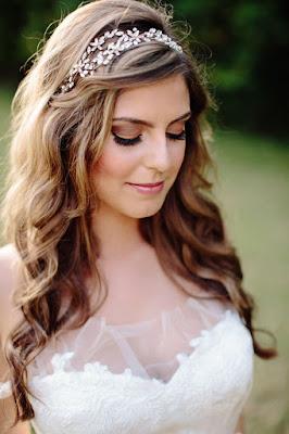 Peinados de novia cabello suelto