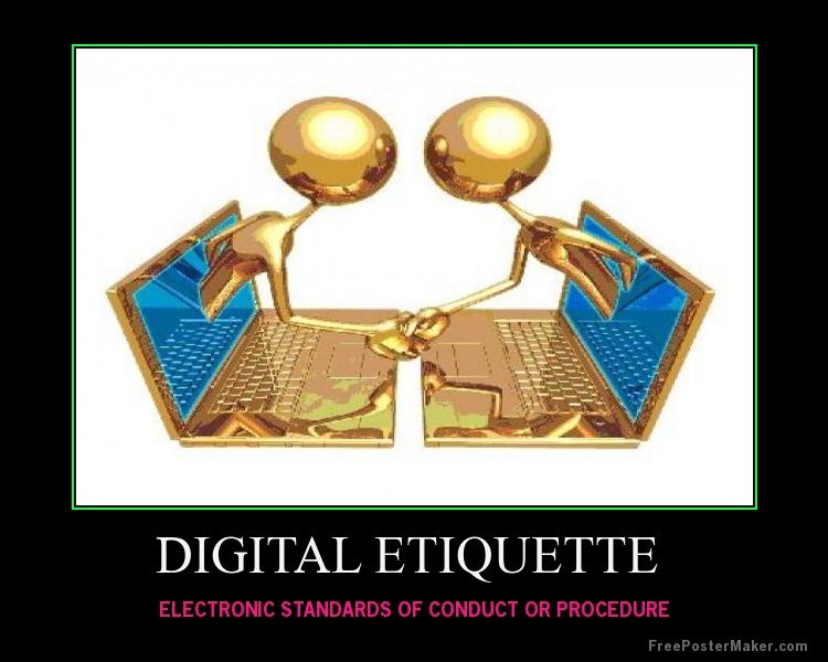 PPT - Digital Etiquette PowerPoint Presentation, free ...  Digital Etiquite