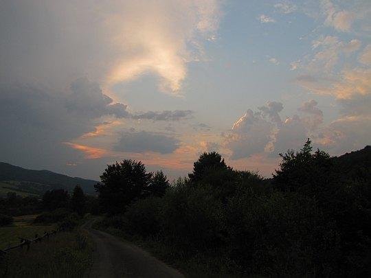 Zachód słońca nad Hańczową.