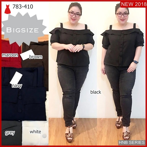 HNB106 Model Atasan Ukuran Besar Jumbo Blouse Big BMG Shop